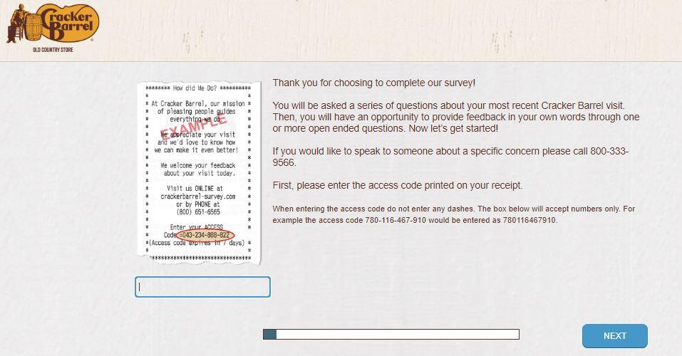 cracker barrel feedback survey entry image