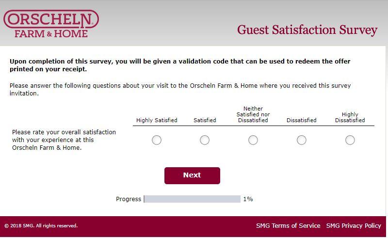 orscheln survey questions image