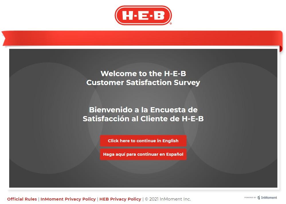 www.heb.com/survey page image