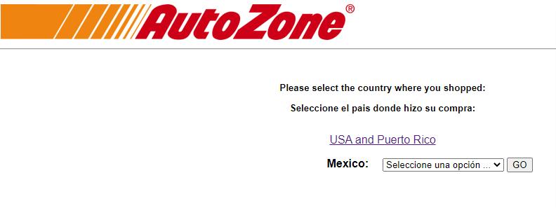 Autozonecares Survey Page Image