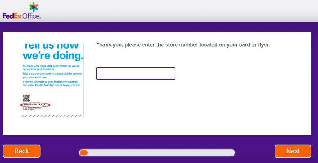FedEx survey without receipt Image
