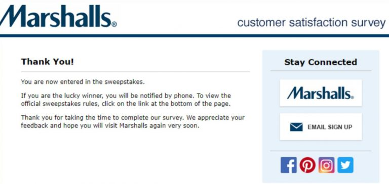 Marshalls Sweepstakes Entry Image