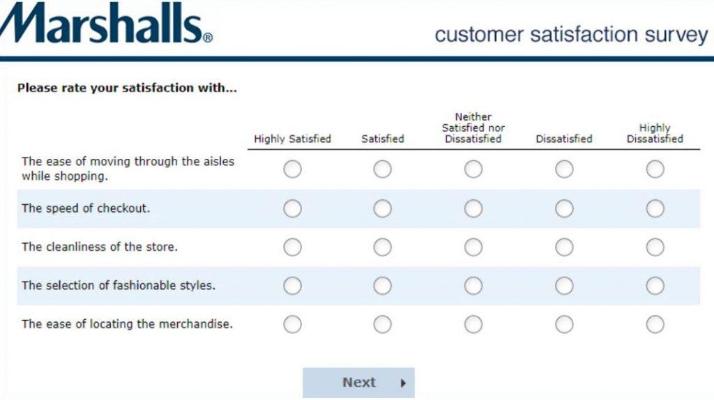 Marshallsfeedback survey overall satisfaction image