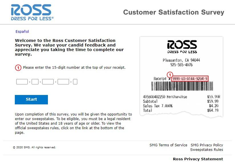 Www Rosslistens Com Survey Page Image