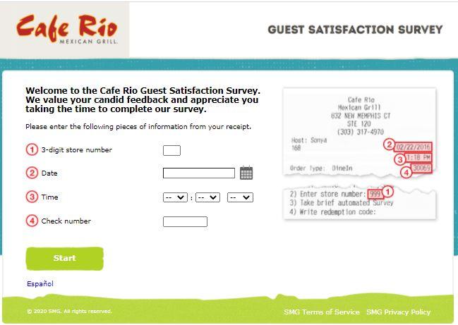 cafe rio listens.smg survey page image