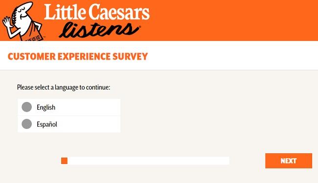 littlecaesarslistens.com survey page image