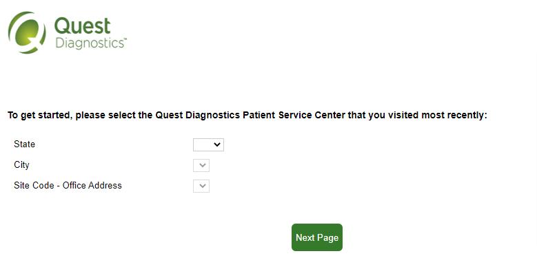 quest diagnostics survey patient service center Image