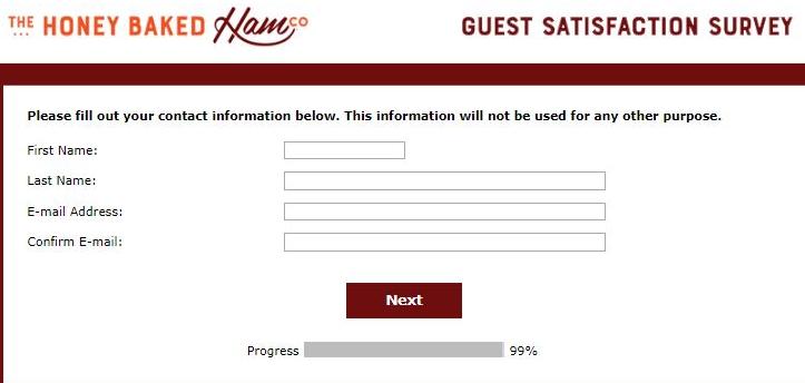 the honey baked ham company survey contact details image