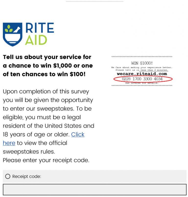 wecare.riteaid.com survey image