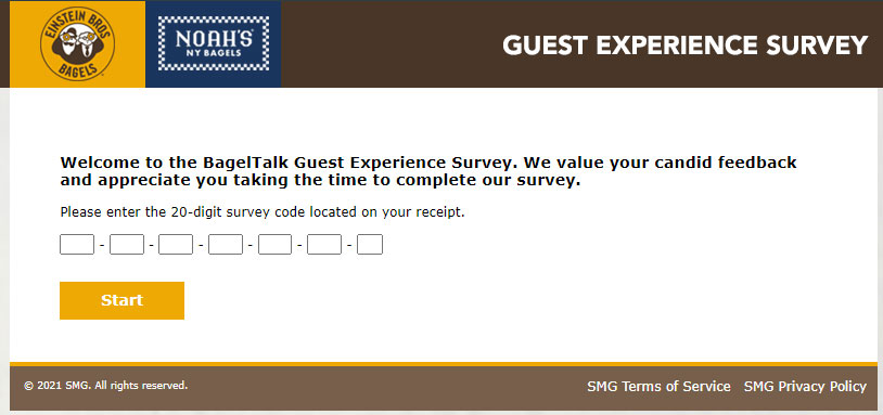 Bagelexperience Survey page Image