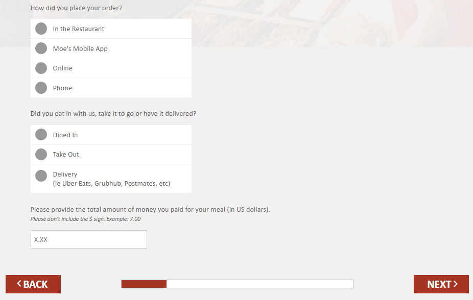 Moes Mycustomer Experience Questions Image
