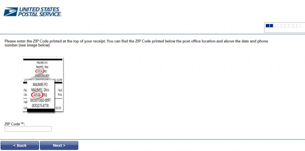 USPS Feedback Survey Enter Zip Code Image